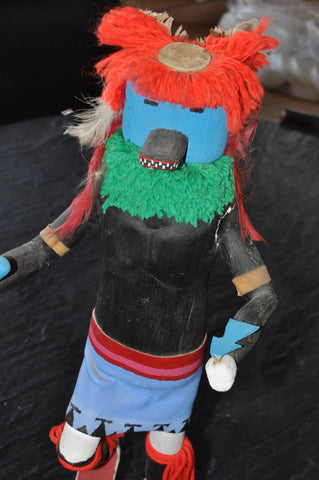 "Kachina Doll by Bessie Nez 17"" Plus Base"