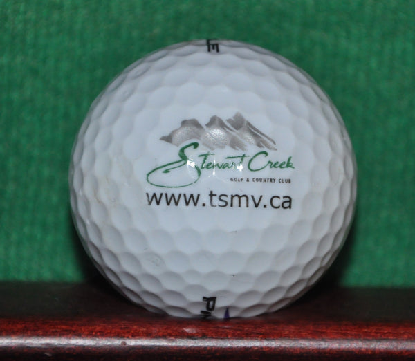 Stewart Creek Golf and Country Club in the Alberta Canada Rockies Logo Ball
