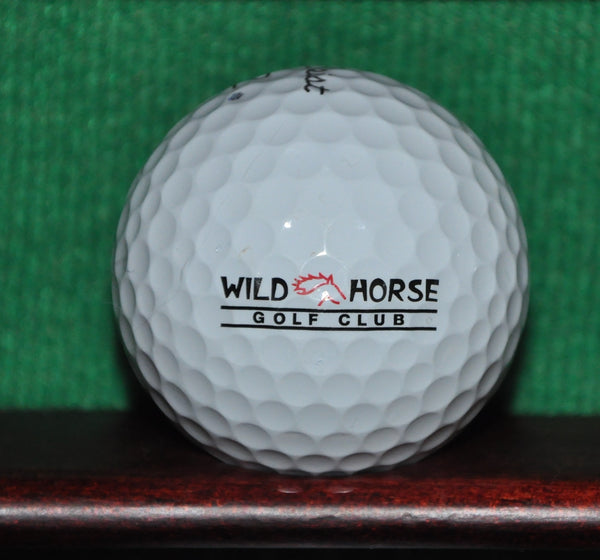 Wildhorse Golf Club Davis California Logo Golf Ball. Titleist Pro V1