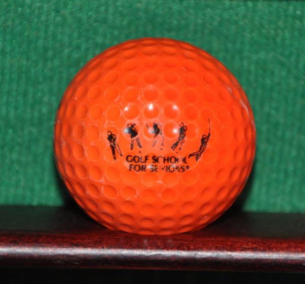 Vintage Orange PGA Golf School for Seniors Logo Golf Ball
