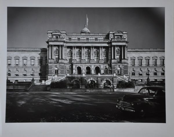 "Original 1950 8"" x 10"" Photo of The Library of Congress in Washington DC"