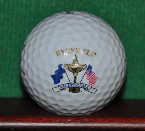 Ryder Cup at Valderrama Spain logo golf ball. 1997. Oldsmobile Logo Golf ball