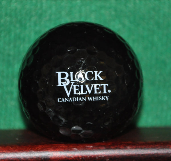 Black Velvet Canadian Whisky Black Golf Ball. Mint Condition