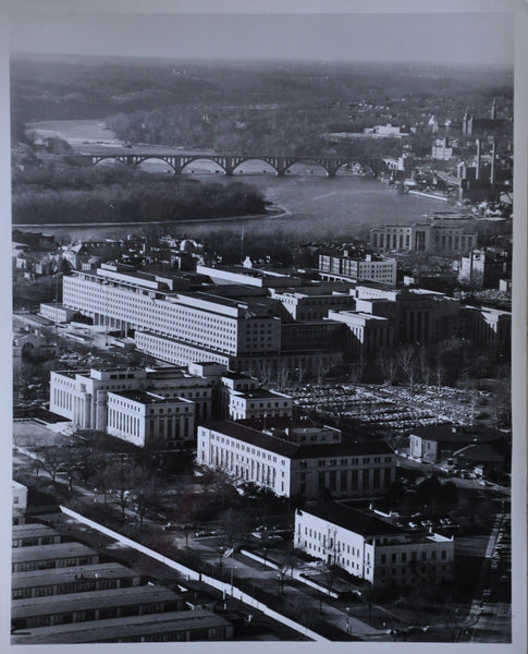 "Original 1948 8"" x 10"" Aerial Photo of The State Deprtmant Building Foggy Bottom Washington DC"