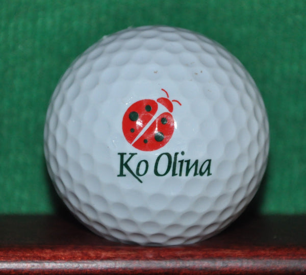 Ko Olina Golf Resort Oahu Hawaii Logo Golf Ball. Ladybug