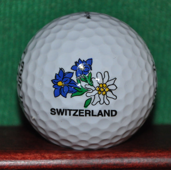 Switzerland Alpine Flower Logo Golf Ball