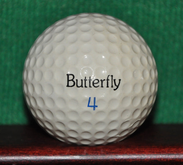 Vintage Butterfly Golf Ball with Rainbow Butterfly Logo