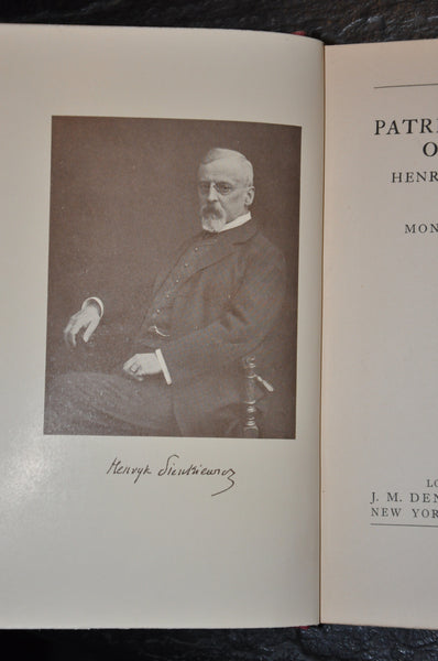 The Patriot Novelist of Poland Henryk Sienkiewicz by Monica Gardner 1926