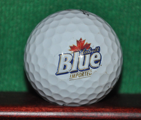 Labatt Blue Beer Canada logo golf ball. Titleist Pro V1