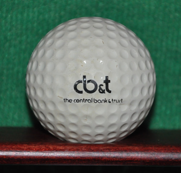 Vintage Central Bank and Trust Logo Golf Ball