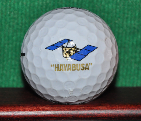 Hayabusa Spacecraft logo golf ball. Japanese Space Program JAXA