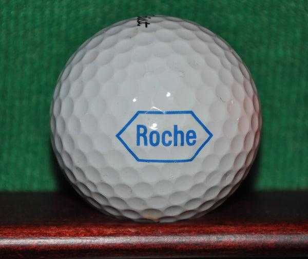 Roche Pharmaceutical Company logo golf ball. Titleist Pro V1