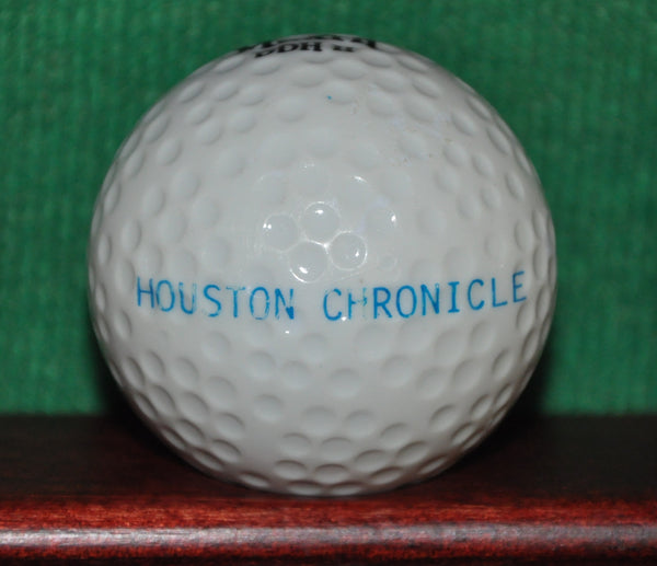 Vintage Houston Chronicle Newspaper Logo Golf Ball. Maxfli DDH