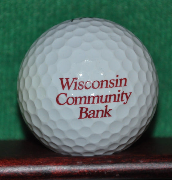 Wisconsin Community Bank Logo Golf Ball. Excellent Condition