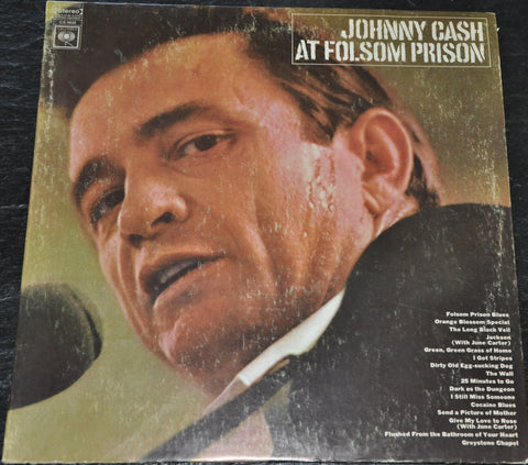 Johnny Cash At Folsom Prison 1968 Vinyl LP 2 Eye Columbia