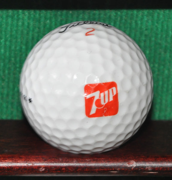 Vintage 7 Up Lemon Lime Beverages Logo Golf Ball. Titleist