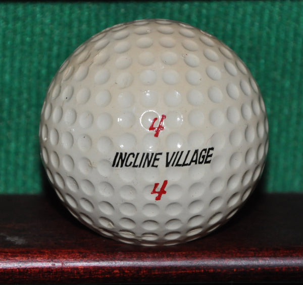 PGA Tour Professional George Bayer's Golf Ball from Incline Village Golf Course Lake Tahoe