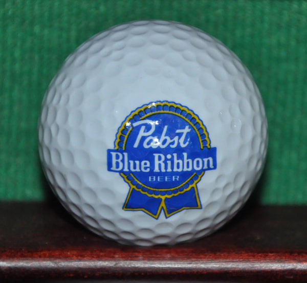 Pabst Blue Ribbon Beer PBR Logo Golf Ball. Excellent Condition