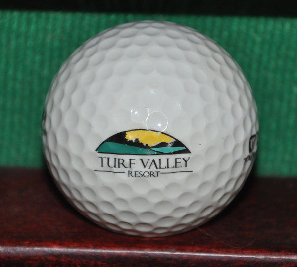 Vintage Turf Valley Resort Golf Course Maryland Logo Golf Ball