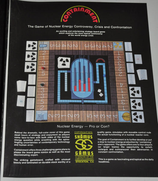 Vintage Containment The Board Game 1979. New in Box