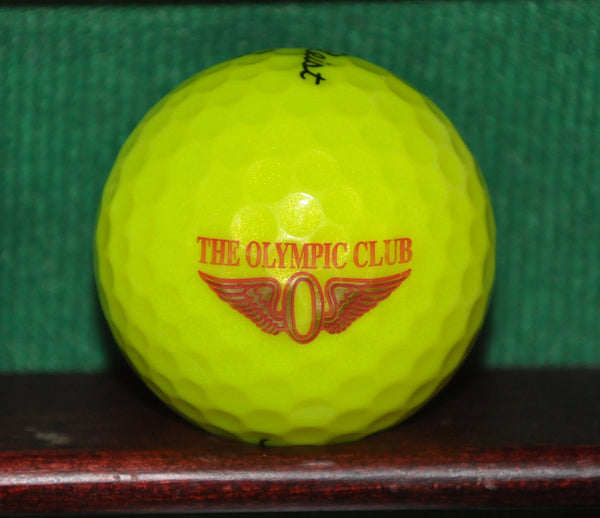 The Olympic Club San Francisco US Open Host Course Logo Ball Titleist NXT Tour. Yellow