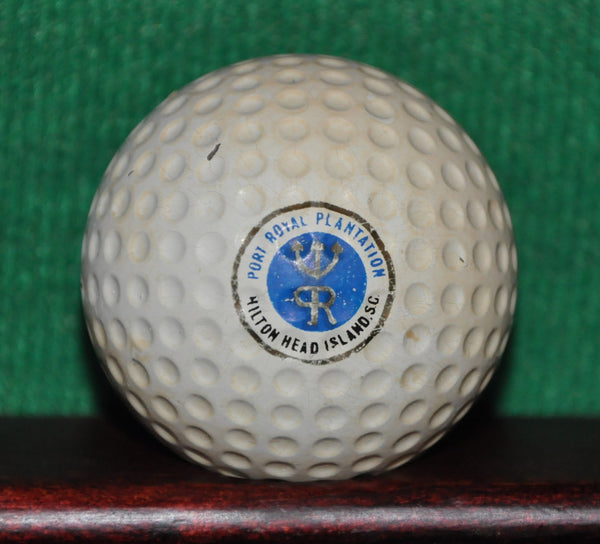 Vintage Port Royal Plantation Golf Course Hilton Head Island South Carolina Logo Golf Ball