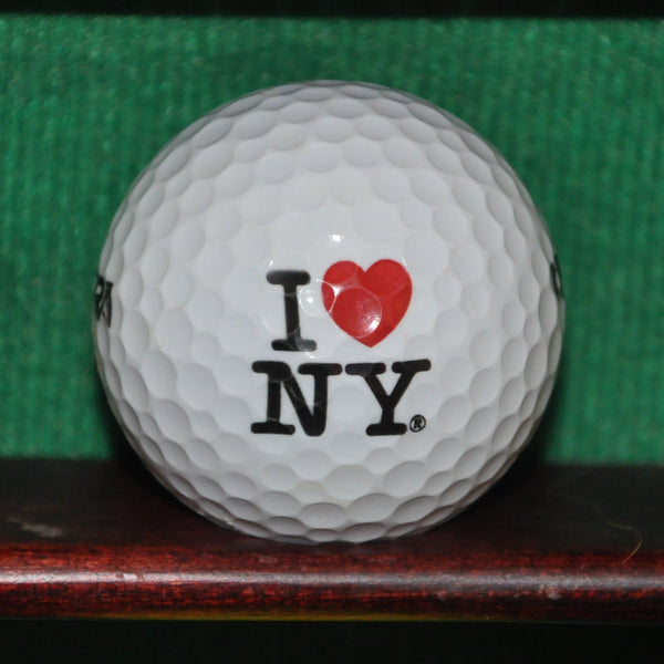 I Love New York City Logo Golf Ball. I Heart NY