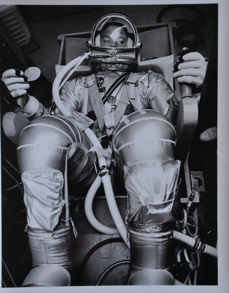 "Original 1963 8"" x 10"" Photo of Mercury 7 Astronaut Gordon Cooper in Pressurization Suit"