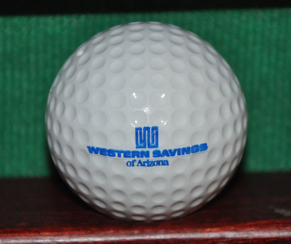 Vintage Western Savings of Arizona Logo Golf Ball. Excellent Condition