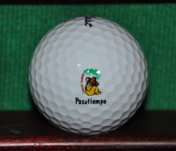 Pasatiempo Golf Club logo golf ball. Santa Cruz California Titleist