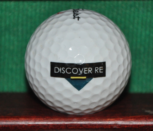 Discover RE Insurance Company Logo Golf Ball. Titleist