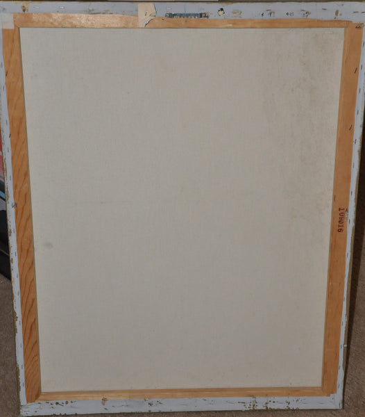 "Original Lee Reynolds Vanguard Studios Beverly Hills Mid Century 2 Piece Abstract Painting. 2 x 30"" x 24"""