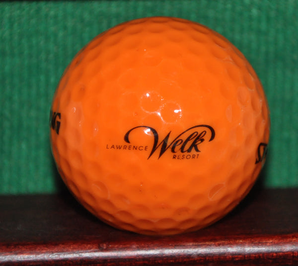 Vintage Lawrence Welk Resort Bright Orange Logo Golf Ball