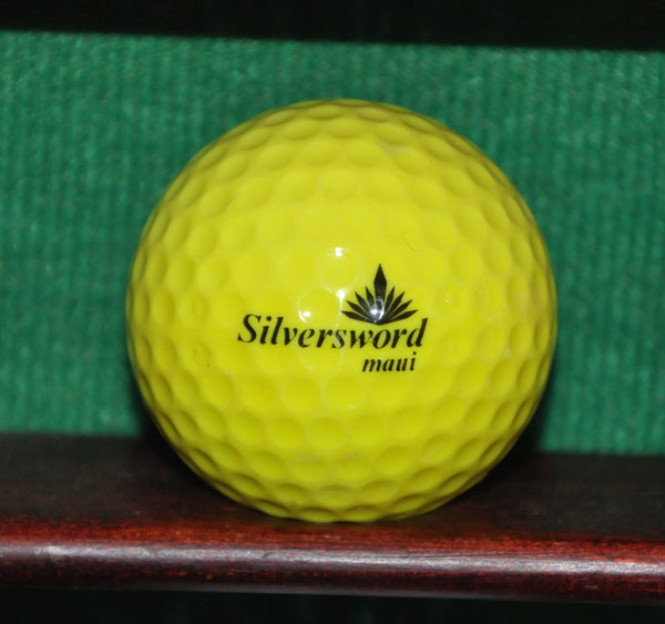 Vintage Silversword Golf Course Maui Hawaii Logo Ball. Yellow