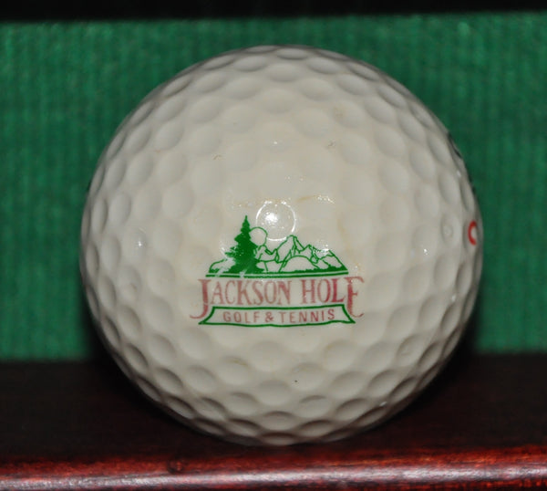 Vintage Jackson Hole Golf and Tennis Club Wyoming Logo Golf Ball