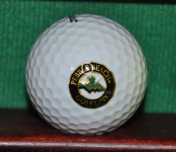 Pebble Bach Golf Links Logo Golf Ball. Excellent Condition. ~1995
