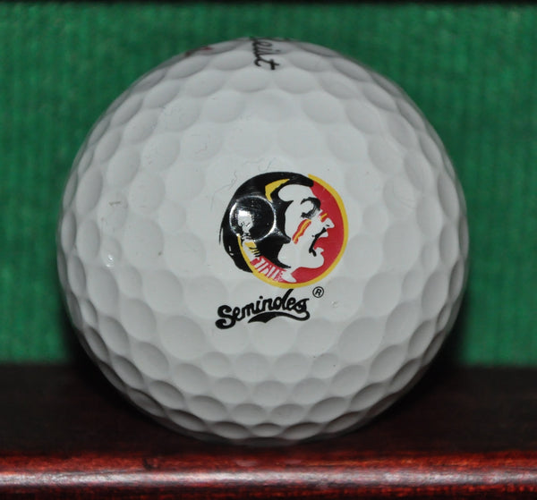 Florida State University FSU Seminoles Logo Golf Ball. Titleist Pro V1