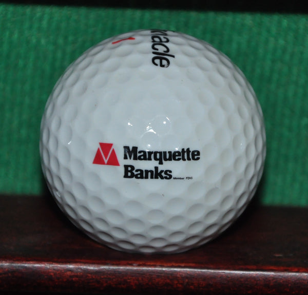 Vintage Marquette Banks Logo Golf Ball