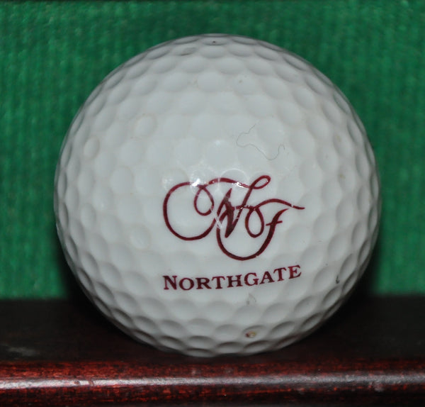 Vintage Northgate Country Club Houston Texas Logo Golf Ball. Golden Ram