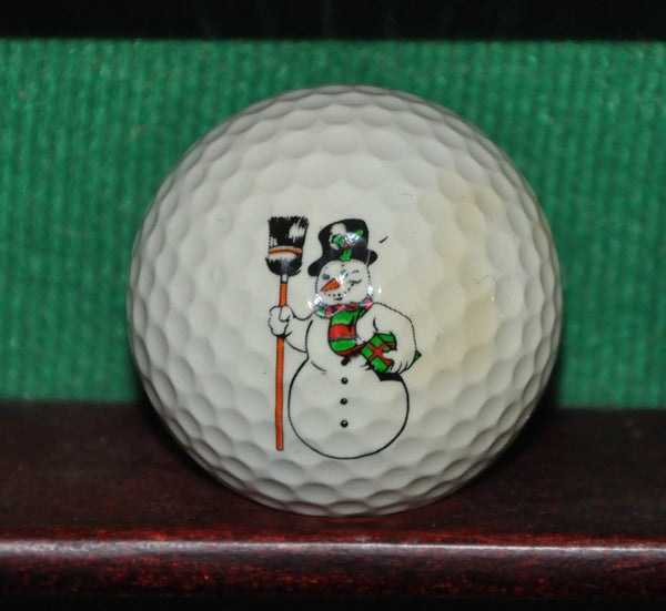 Frosty The Snowman Christmas Themed Logo Golf Ball