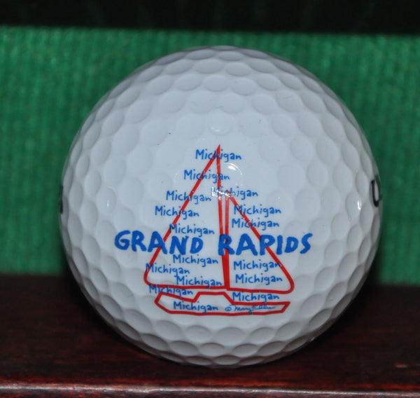 Grand Rapids Michigan Sailboat Logo Golf Ball