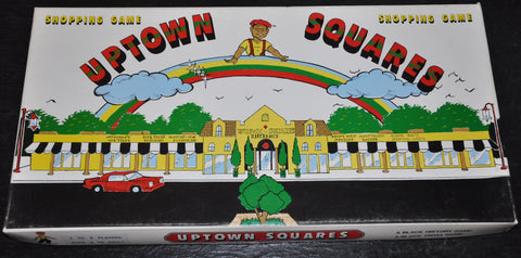 Vintage Uptown Squares Board Game Shopping Game and Black History