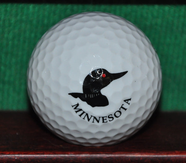 State of Minnesota Duck Logo Golf Ball