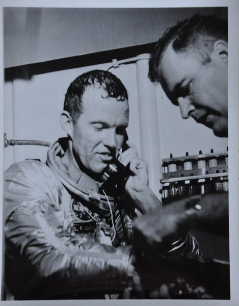 "Original 1963 8"" x 10"" Photo of Astronaut Gordon Cooper Getting Call From President Kennedy"