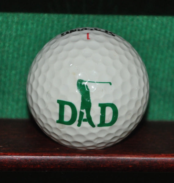 Dad Father's Day Themed Logo Golf Ball