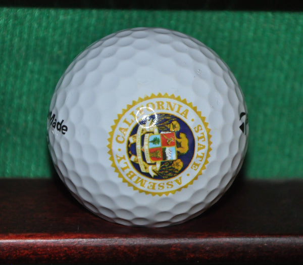 Government of California State Assembly Sacramento Logo Golf Ball. TaylorMade