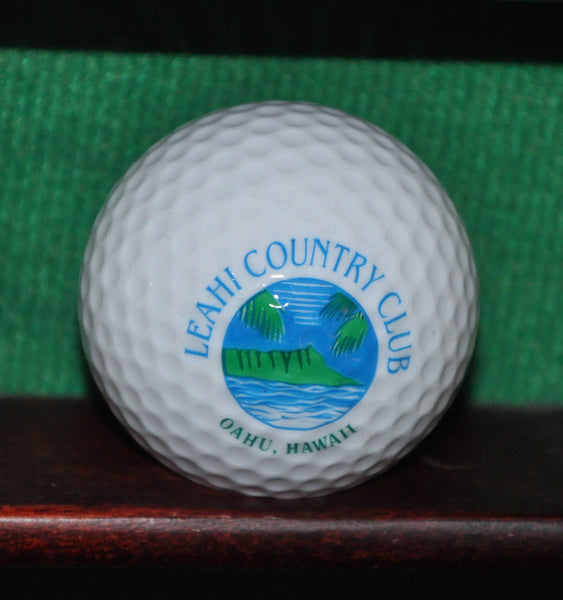 Leahi Country Club Oahu Hawaii Logo Golf Ball. Mint Condition