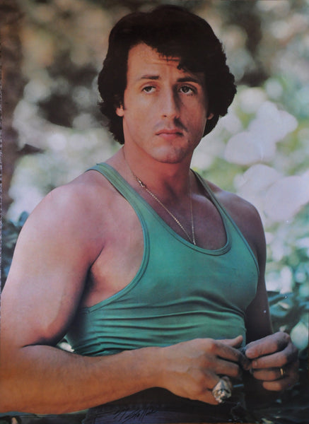 "Original Sylvester Stallone Sly Stallone Signed Poster 1977. 28"" x 20"""