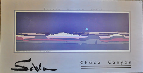 "Original Signed Print of Chaco Canyon by Eugene William Sabia 33"" x 17"""