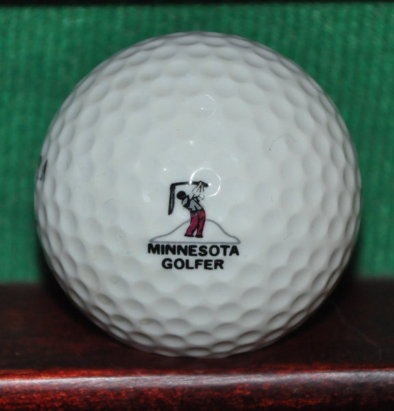 Vintage Minnesota Golfer Magazine Logo Golf Ball